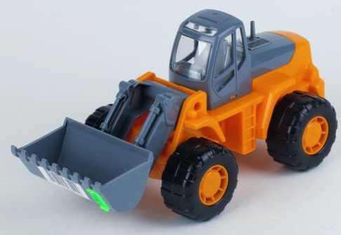 Купить Трактор Полесье Трактор-погрузчик Умелец оранжевый 159238, ПОЛЕСЬЕ, Детские модели машинок