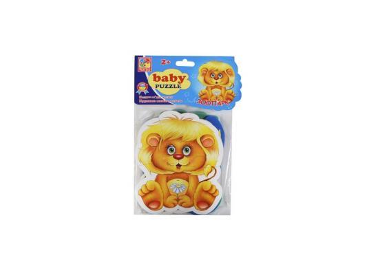 Пазл Vladi toys мягкий Baby puzzle Зоопарк 15 элементов VT1106-10 vladi toys мягкие пазлы baby puzzle сказки репка
