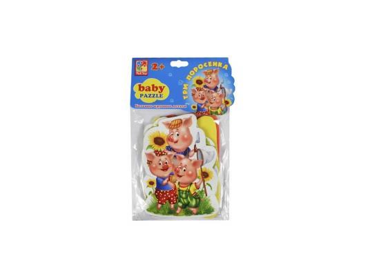 Пазл Vladi toys мягкий Baby puzzle Сказки. Три поросенка 15 элементов VT1106-37 мягкий пазл 20 элементов vladi toys зверята vt3203 42