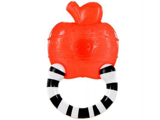 Купить Прорезыватель Bright Starts Полосатое колечко, Яблоко красный с 3 месяцев, пластик, унисекс, Прорезыватели