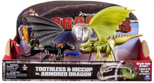 Игровой набор Dragons Беззубик и Иккинг против дракона в доспехах от 4 лет 3 предмета 66599