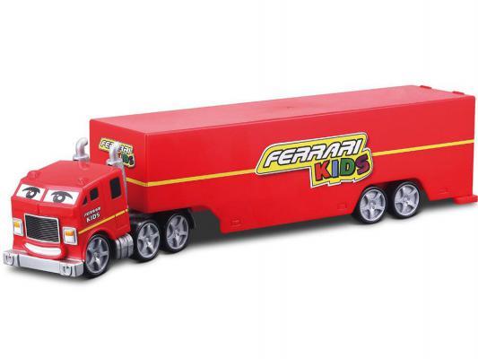 Набор Bburago Ferrari Kids Грузовик для перевозки машин с 1-й машиной и аксессуарами Ferrari Enzo 1:43 красный 18-31277