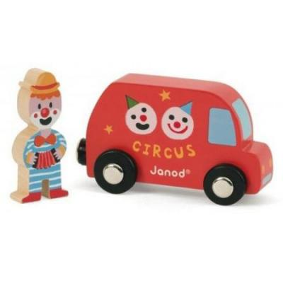 Набор Janod Фургон цирк с клоуном 08558 от 123.ru
