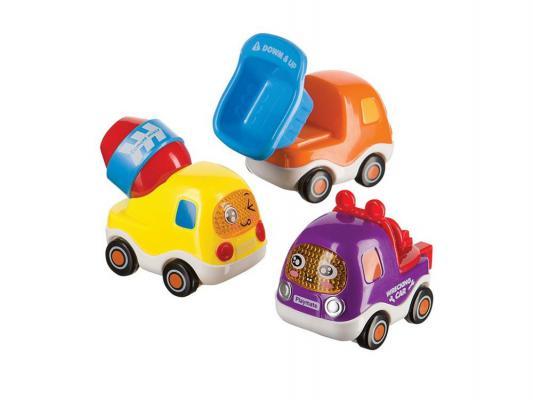 Купить Набор грузовичков с инерционным механизмом Happy Baby Cars4Fun 330066 12м+