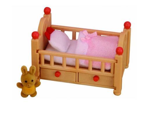 Игровой набор SYLVANIAN FAMILIES Детская кроватка 4 предмета 2929 sylvanian families 3 4 3418