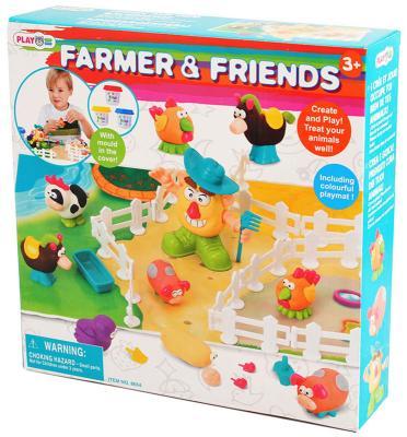 Набор для лепки Playgo Фермер и друзья от 3 лет всё для лепки playgo набор с формами и инструментами