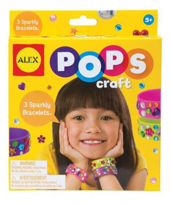 Набор для творчества Alex Создай 3 блестящих браслета со стразами от 4 лет alex alex набор для творчества плетение браслетов фенечек неоновое сияние