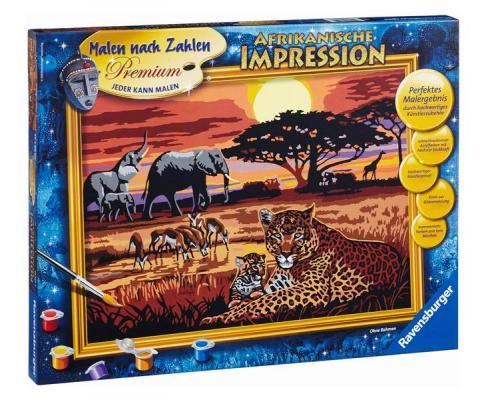 Набор для рисования Ravensburger Раскрашивание по номерам Африка от 10 лет 28819 наборы для рисования ravensburger раскрашивание по номерам холодное сердце