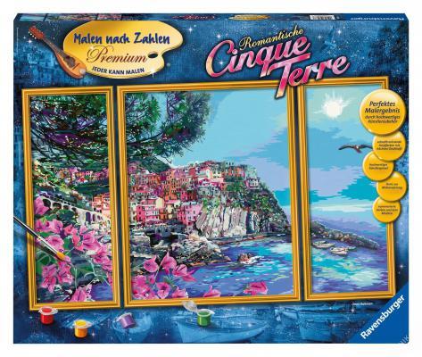 Набор для рисования Ravensburger Раскрашивание по номерам: Городок у моря от 14 лет