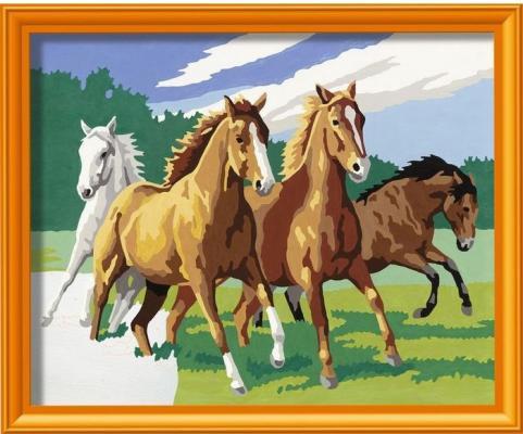 Набор для творчества Ravensburger Раскрашивание по номерам Дикие лошади от 9 лет наборы для рисования ravensburger набор для рисования раскрашивание по номерам дикие лошади