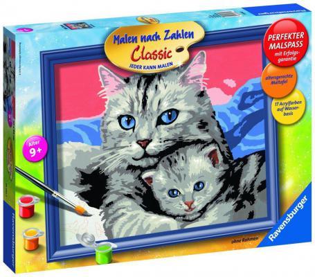 Купить Набор для рисования Ravensburger Раскрашивание по номерам: Кошка с котенком от 9 лет