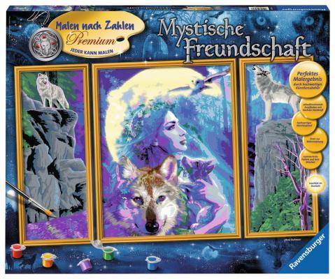 Набор для рисования Ravensburger Раскрашивание по номерам Мистическая дружба от 10 лет 28960