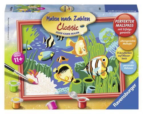 Набор для рисования Ravensburger Раскрашивание по номерам: Подводный мир от 7 лет ravensburger картина по номерам подводный мир