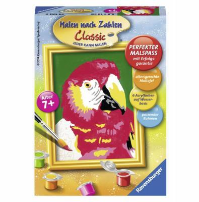 Набор для рисования Ravensburger Раскрашивание по номерам: Попугай от 7 лет наборы для рисования ravensburger набор для рисования раскрашивание по номерам дикие лошади