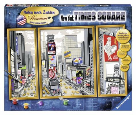 Набор для рисования Ravensburger Раскрашивание по номерам Таймс-сквер от 10 лет 28966 наборы для рисования ravensburger набор для рисования раскрашивание по номерам дикие лошади
