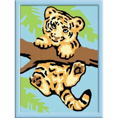 Набор для творчества Ravensburger Раскрашивание по номерам: Тигренок от 7 лет набор для творчества ravensburger раскрашивание по номерам тигренок от 7 лет
