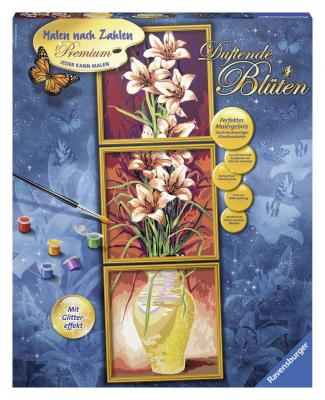 Набор для рисования Ravensburger Раскрашивание по номерам: Цветы от 12 лет ravensburger ravensburger раскрашивание по номерам тигренок