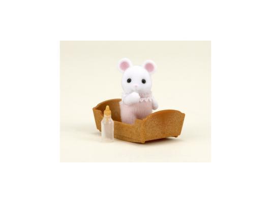 Игровой набор Sylvanian Families Малыш Белый Мышонок 3 предмета 3420