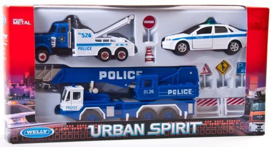 Игровой набор Welly Полиция разноцветный н/д н/д 99610-10A