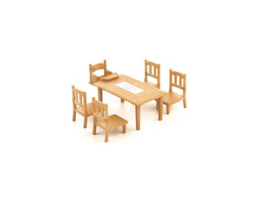 Игровой набор Sylvanian Families Обеденный стол с 5-ю стульями от 4 лет 6 предметов 2933
