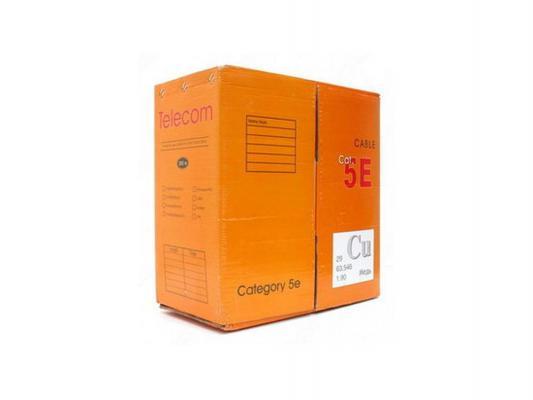Кабель Telecom UTP 4 пары категория 5e CU 305м серый UTP4-TC1000C5EN-CU-IS кабель питания для ноутбуков 3 0м vcom telecom ce022 cu0 5 3m