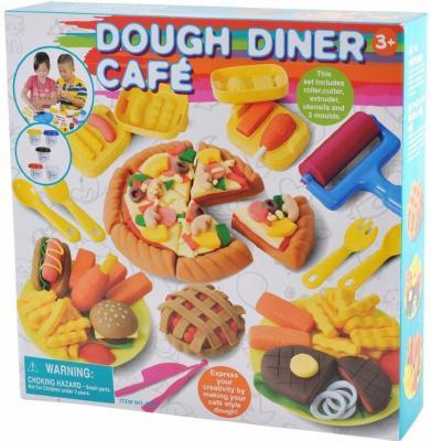 Набор с пластилином Playgo Кафе-закусочная наборы для лепки playgo набор с пластилином джунгли