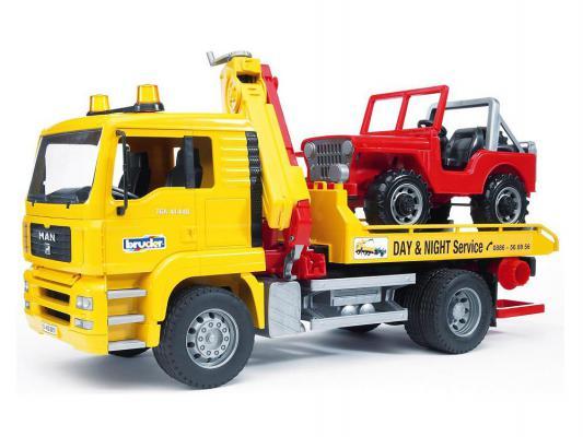 Набор Bruder Эвакуатор MAN с портативным краном и внедорожником разноцветный 2 шт 49.5 см 02-750