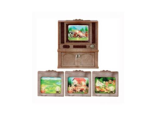 Игровой набор Sylvanian Families Цветной телевизор 4 предмета 2924 sylvanian families набор цветной телевизор