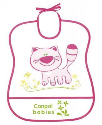 Нагрудник Canpol пластиковый мягкий розовый 2/919 канпол нагрудник пластиковый мягкий