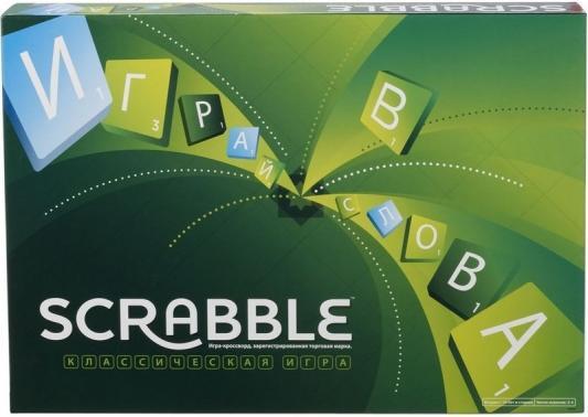 Настольная игра MATTEL развивающая Scrabble (Скрэббл) Классический Y9618