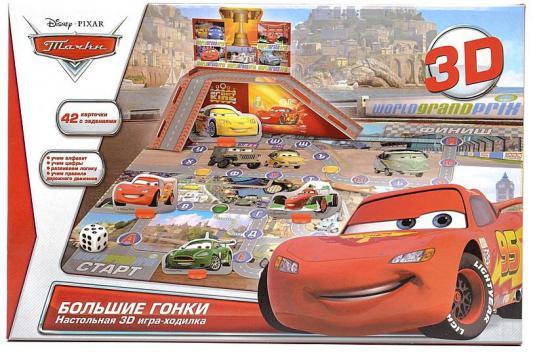 Купить Настольная игра УМКА ходилка 3D-ходилка Тачки Большие гонки 60483