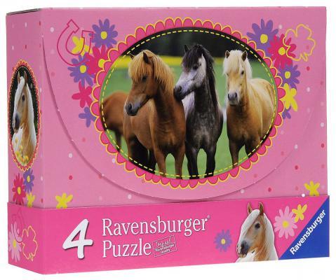 Пазл Ravensburger 4 в 1 Красивые лошади (2х64шт., 2х81шт.) 072682 от 5+ jd103 1 12 1 8 lovely bjd synthetic mohair doll wigs 3 4 inch 4 5 inch 5 6inch lati doll two braids wig
