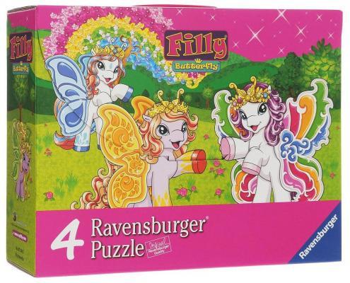 Пазл Ravensburger 4в 1 Филли Бабочки 072842 5+ ravensburger игра филли ravensburger