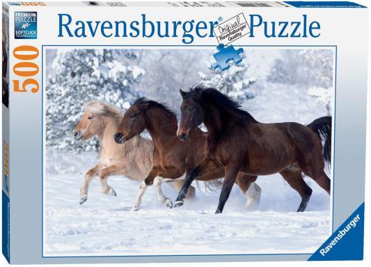 Пазл Ravensburger Галопом по снегу 500 элементов пазл галопом по снегу 500 шт