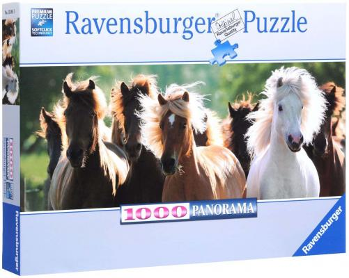 Пазл Ravensburger Дикие лошади 1000 элементов пазл ravensburger пазл ravensburger три лошади 500 элементов 145669 500 элементов