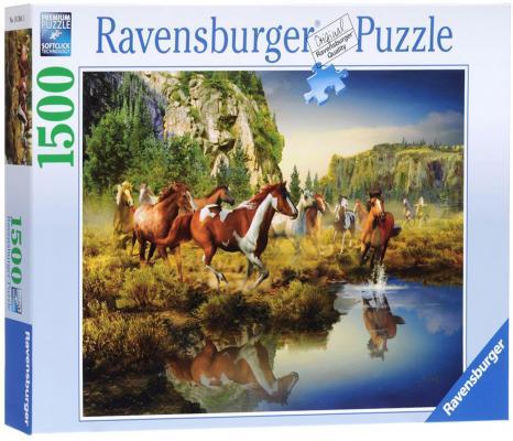 Пазл Ravensburger Дикие лошади 1500 элементов ravensburger пазл дикие лошади 1500 деталей