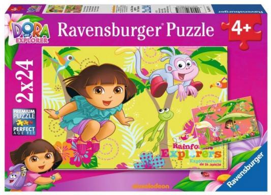 Пазл Ravensburger Дора в джунглях 2 в 1 48 элементов ravensburger пазл очаровательная дора 35 элементов