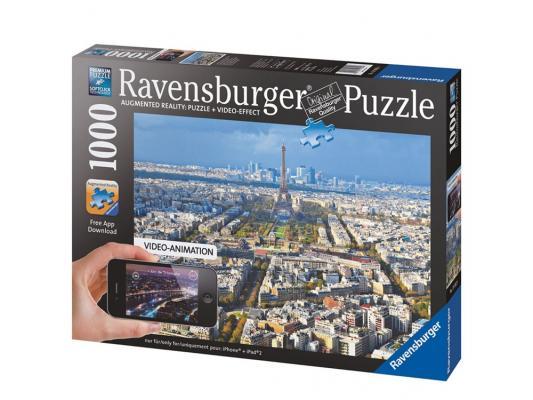 ravensburger пазл утро на таймс сквер с видео анимацией 1000 деталей Пазл Ravensburger Крыши Парижа с видео-анимацией 1000 элементов