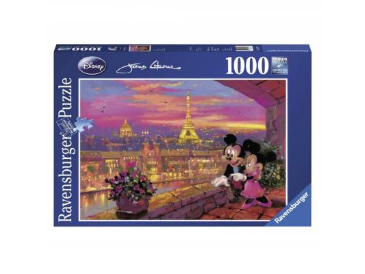 Пазл Ravensburger Микки и Минни в Париже 1000 элементов пазл ravensburger озеро эйб 1000 элементов