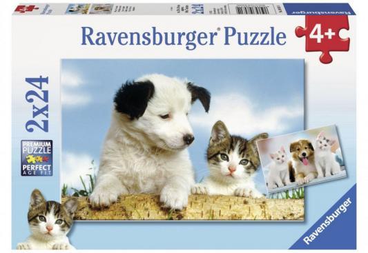 Пазл Ravensburger Настоящие друзья 48 элементов пазлы ravensburger пазл приключения немо 2х24 элементов