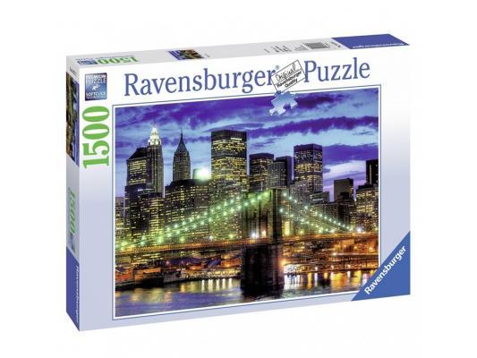 Пазл Ravensburger Небоскребы Нью-Йорка 1500 элементов наборы для рисования ravensburger набор для рисования небоскребы нью йорка
