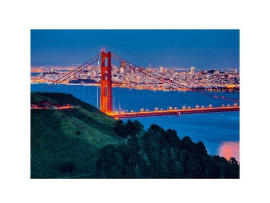 Пазл Ravensburger Сан-Франциско с глянцевым эффектом 100 элементов