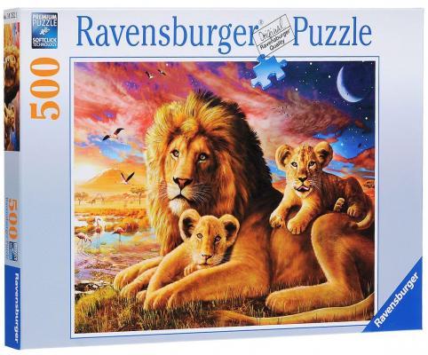 Купить Деревянные конструкторы и пазлы для детей   Пазл Ravensburger Семейство львов (500 шт.)