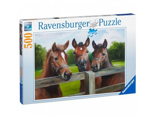 Пазл Ravensburger Пазл Ravensburger Три лошади 500 элементов 145669 500 элементов пазл 3 в 1 147 элементов ravensburger первобытные хищники 09358