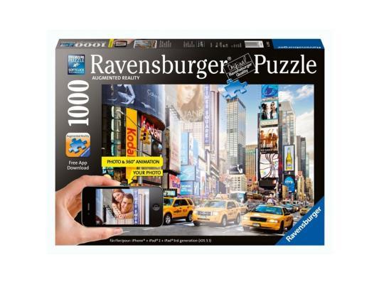 ravensburger пазл утро на таймс сквер с видео анимацией 1000 деталей Пазл Ravensburger Утро на Таймс-сквер с видео-анимацией 1000 элементов