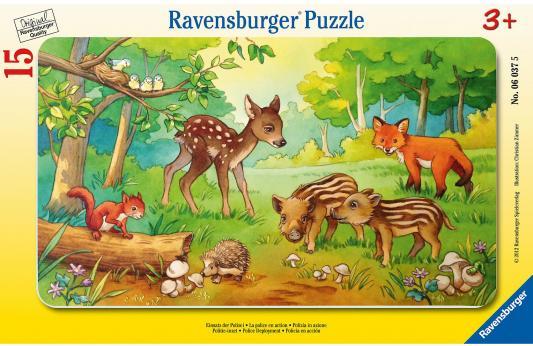 Пазл Ravensburger Детеныши животных в лесу 15 элементов детеныши животных