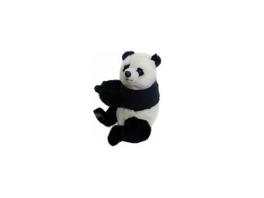 Мягкая игрушка панда Hansa Панда плюш синтепон белый черный 25 см