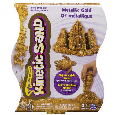 Песок для лепки Kinetic sand металлик, 455гр. цена