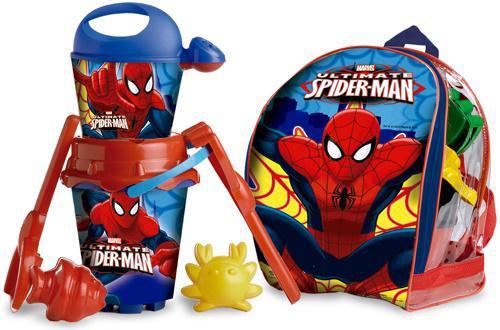 Песочный набор Unice Спайдермен в рюкзаке красный синий рисунок 7 предметов 314007
