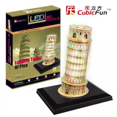Пазл 3D CubicFun Пизанская башня с иллюминацией (Италия) 15 элементов L502H